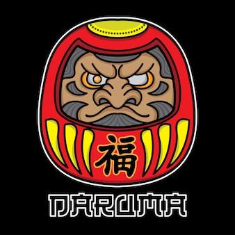 Daruma tattoo-designs