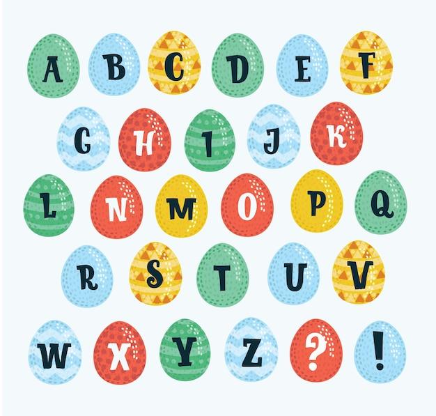 Das alphabet besteht aus eiern.