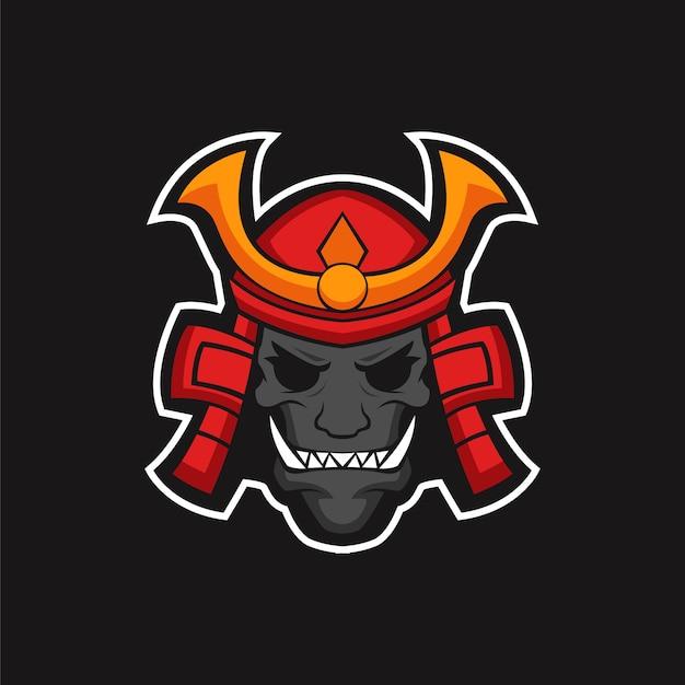 Das alte samurai-logo-maskottchen