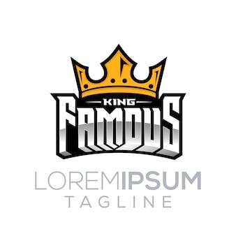 Das berühmte logo des königs