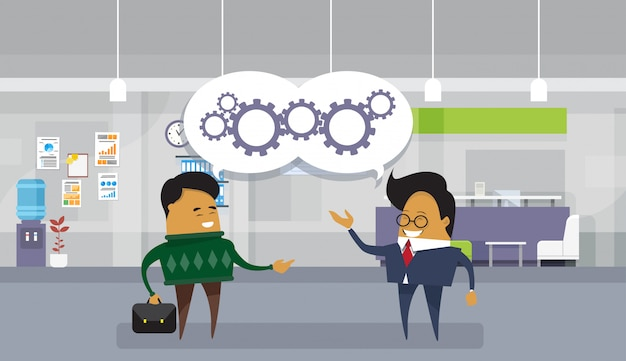 Das brainstorming, das asiatischen geschäftsmann trifft, besprechen neuen ideen-projekt-modernen büro-hintergrund