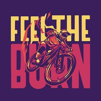 Das brandzitat mit dem mountainbike fallen lassen