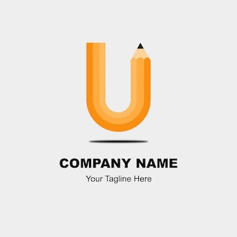 Das brief-logo hat die form eines bleistifts