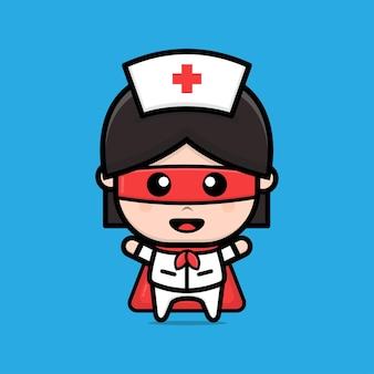 Das design der krankenschwestern ist eine heldenillustration