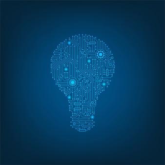Das design von lampen mit elektronischen schaltkreisen als element.