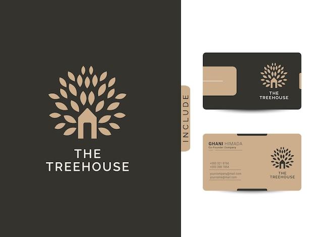 Das designkonzept des baumhaus-logos