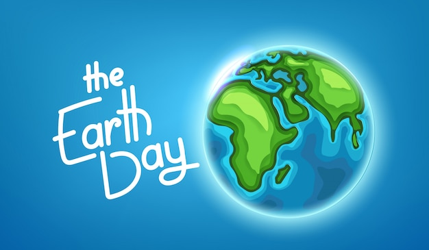 Das earth day-konzept. vektor-illustration