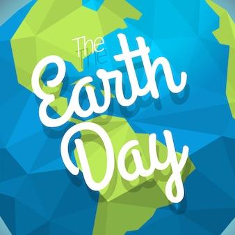Das earth day-konzept. vektorabbildung mit der erde