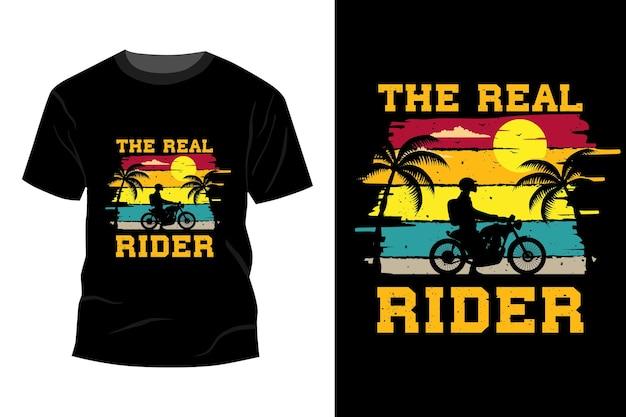 Das echte reiter t-shirt mockup design vintage retro