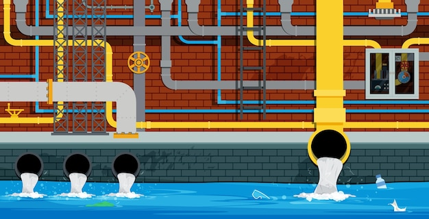 Das entwässerungs- und abwassersystem befindet sich unter der stadt