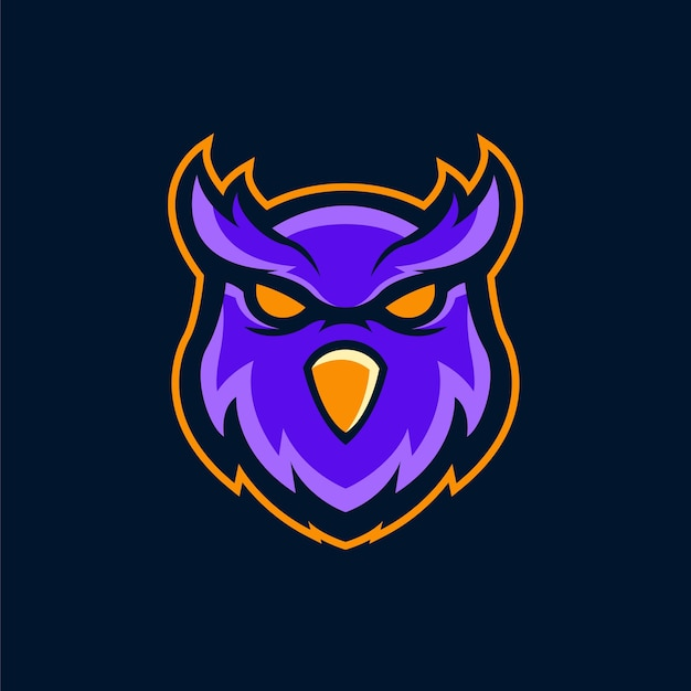Das eulen-logo-maskottchen
