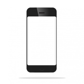 Das frontmodell des schwarzen smartphones.
