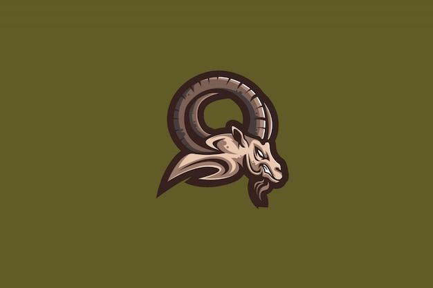 Das goat-clipart-logo für den sport