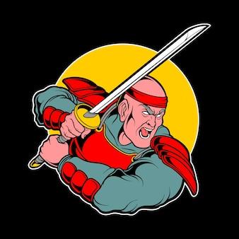Das große samurai-logo