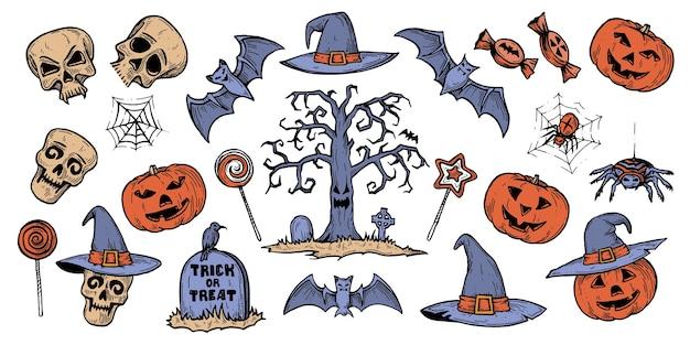 Das halloween-set.