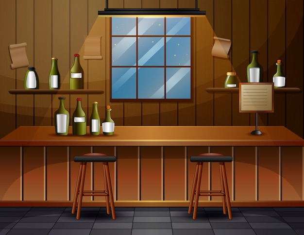 Das innere der bar cafe illustration