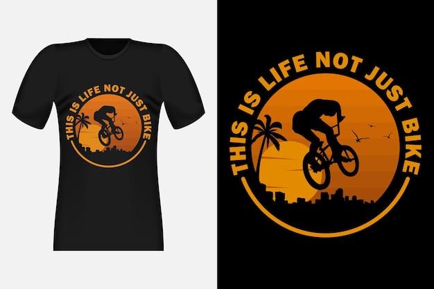Das ist das leben nicht nur fahrrad silhouette vintage retro t-shirt design