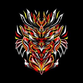 Das jäger-samurai-esport-maskottchen-logo
