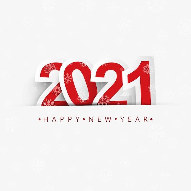 Das jahr 2021 zeigte einen eleganten feierhintergrund