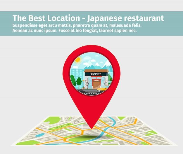 Das japanische restaurant mit der besten lage
