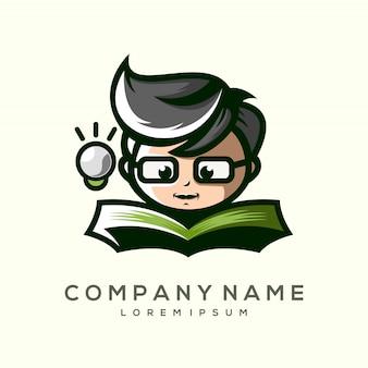 Das kind eines premium-logo-designs