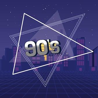 Das konzept der 90er jahre für immer
