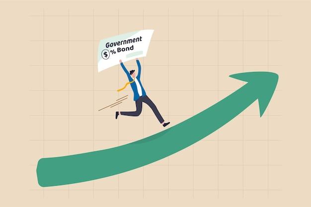 Das konzept der globalen und us-treasury-renditen steigt.