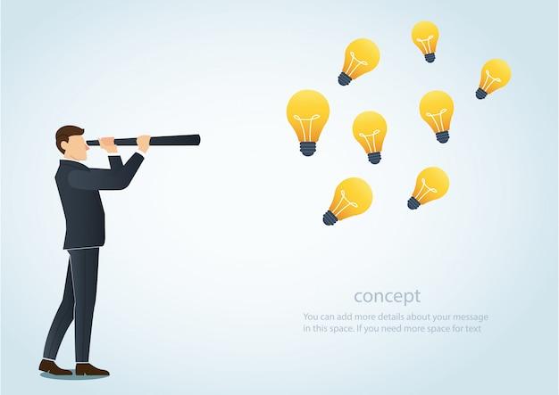 Das konzept der kreativen geschäftsvision