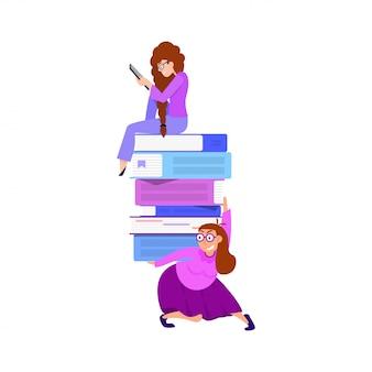 Das konzept der online-bibliothek