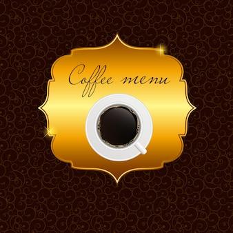 Das konzept des kaffeehaus-menüs.