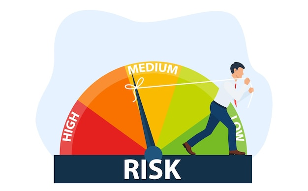 Das konzept des risikos auf dem tacho
