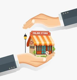 Das konzept des sicheren online-shoppings