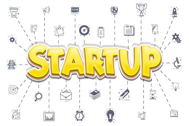 Das konzept eines startups
