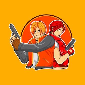Das kopfgeldjäger-duo