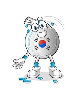Das korea-abzeichen dehnt sich