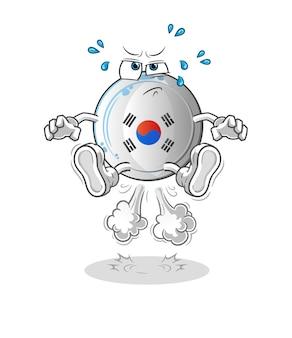 Das korea-abzeichen furzspringen