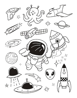 Das kosmonauten-gekritzel