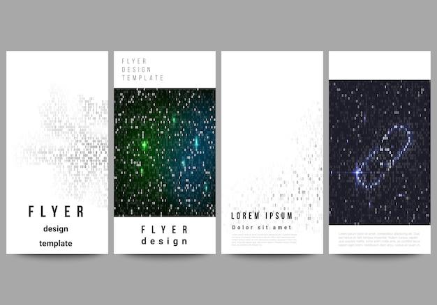 Das layout der flyer, banner-vorlagen