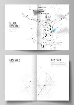 Das layout von zwei a4-format-cover-vorlagen