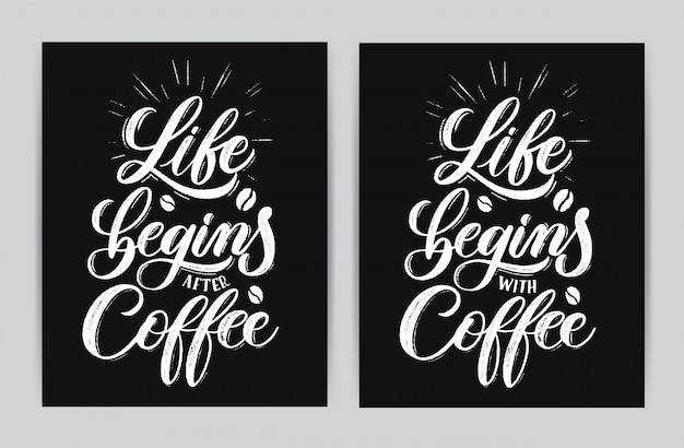 Das leben beginnt nach dem kaffee.