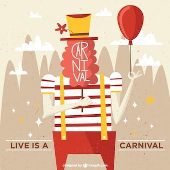 Das leben ist ein karneval-illustration