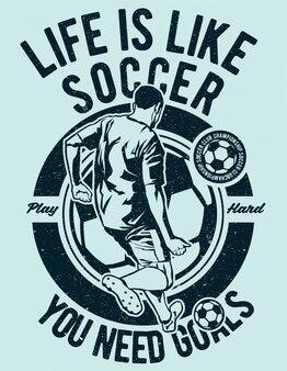 Das leben ist wie fußball