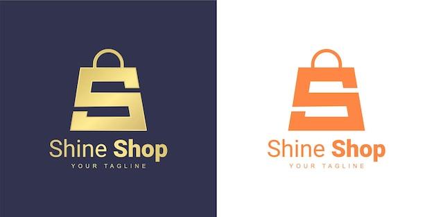 Das letter s-logo hat ein einkaufskonzept