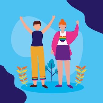 Das lgbtq-design der queeren community
