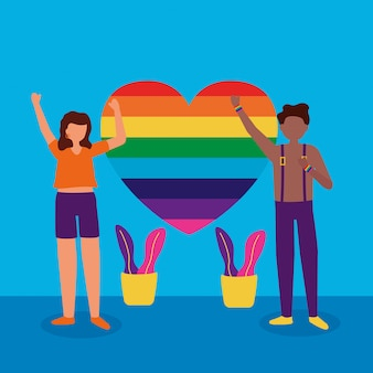 Das lgbtq-design der queeren community