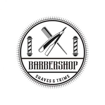 Das logo für friseursalon im vintage-stil