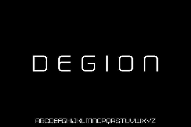 Das luxus futuristic alphabet font set