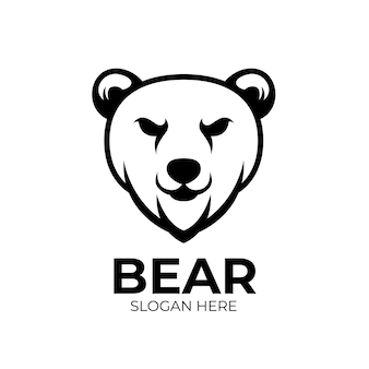 Das maskottchen-logo von bear creatives ist schwarz