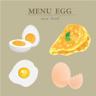 Das menü der eier.
