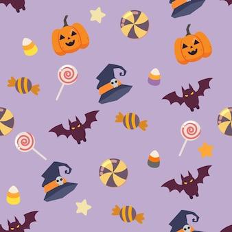 Das nahtlose muster der halloween-party